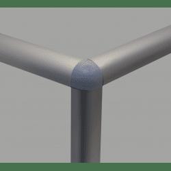 Raccord d'assemblage - 3 profilés arrondis 6 mm - Gris (trous Ø5 mm)