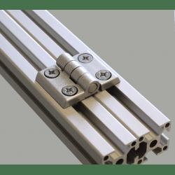 Charnière métallique pour profilé 40x40 fente de 10 mm