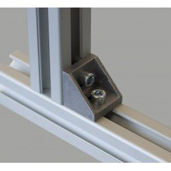 Fastening bracket 27x27 for 8 mm slots profiles
