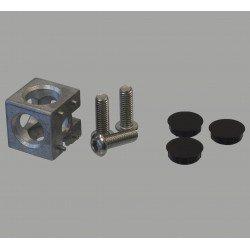 Raccord d'assemblage - 3 profilés 8 mm