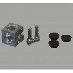 Assembly connector – 8mm profiles 40x40 3 ways