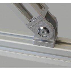 Articulation pour profilé 30x30 fente de 8 mm