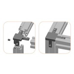 Internal assembly connector - 3 ways for 8 mm slot