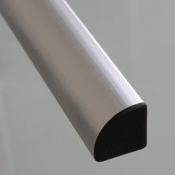 Embout de protection pour profilés 45x45 arrondis - Noir