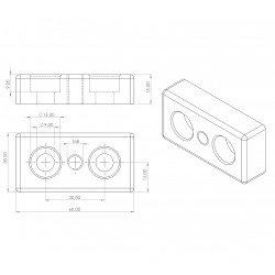 Plaque 30x60 - Filetage M8