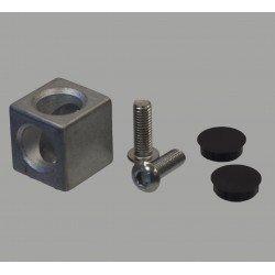 Raccord d'assemblage - 2 profilés 40x40 fente de 8 mm