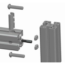 Bolt connector for 30x30 profiles 8 mm slot