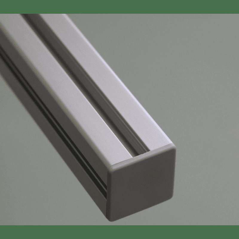 Embout de protection pour profilés 25x25 fente de 6mm - Gris