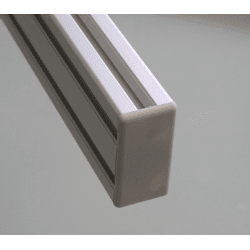 Embout de protection pour profilés 20x40 fente de 6mm (Ø5mm) - GRIS