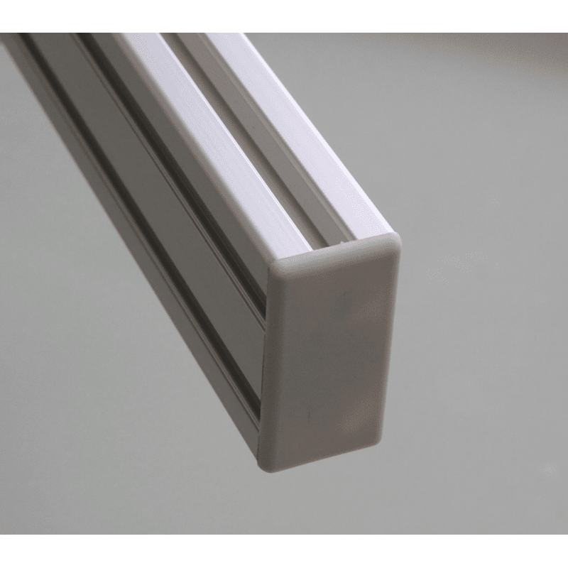 Embout de protection pour profilés 20x40 fente de 6mm (Ø5mm) - Noir