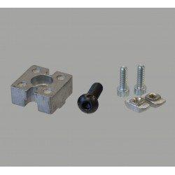 Kit connecteur en T 40x40 - Fente de 8 mm
