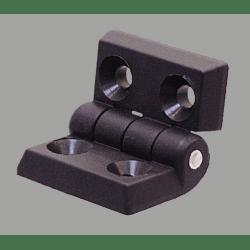 Nylon hinge for 40x40 profiles