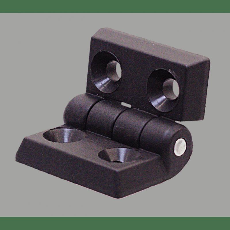 Nylon hinge for 45x45 profiles