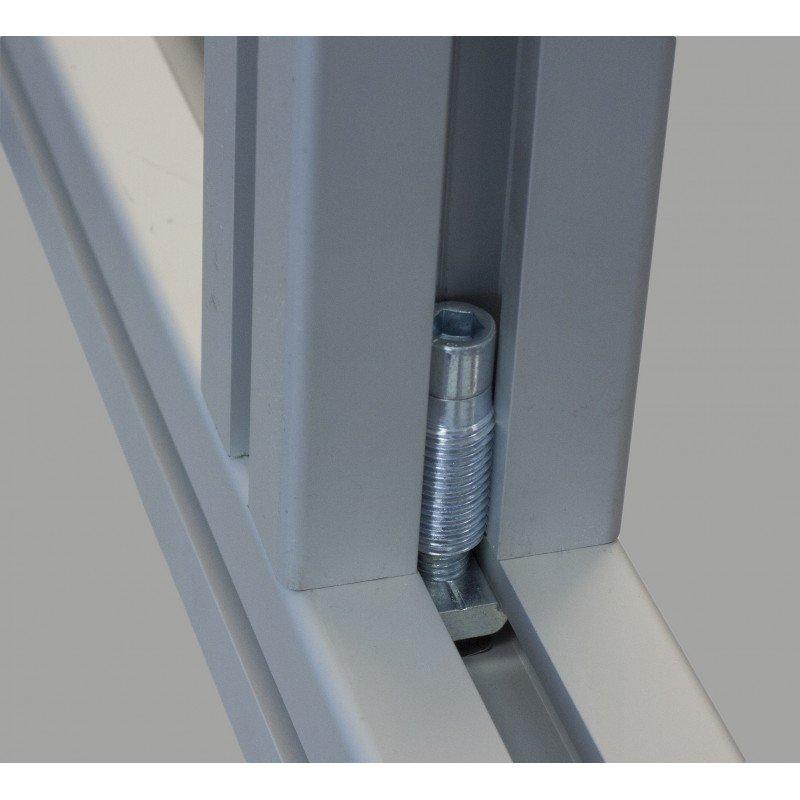 Fixation automatique pour profilés 40x40 à fente de 8 mm