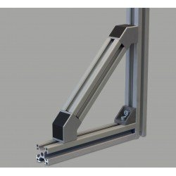 45° connector for 30x30 profiles