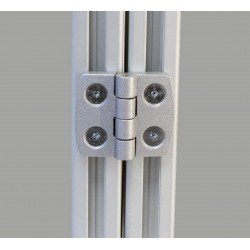 Charnière en aluminium pour profilé fente de 6 mm