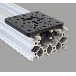 Plateau V-SLOT pour rail C-BEAM + Kit roues Delrin