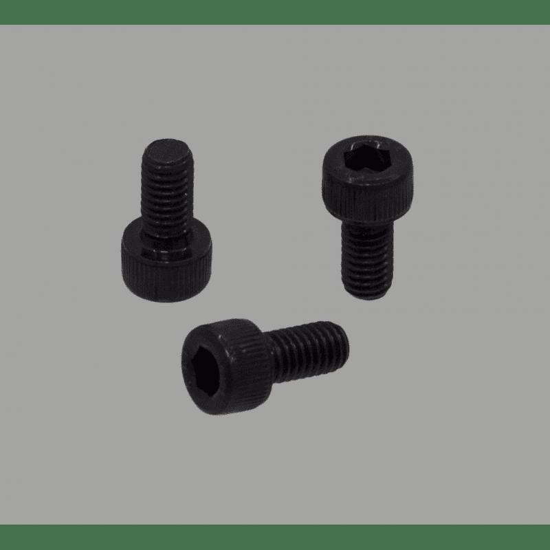 Lot de 10 vis de fixation noires - Filetage M4x25 - Tête à six pans creux
