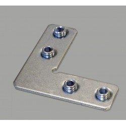 Connecteur interne en L pour fente de 8 mm