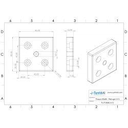 Plaque 80x80 - Filetage M12