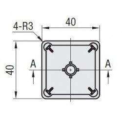 Embout de protection pour profilés aluminium 40x40 fente de 10mm - Noir
