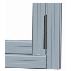 Aluminum detachable hinge for profiles 20 and 40