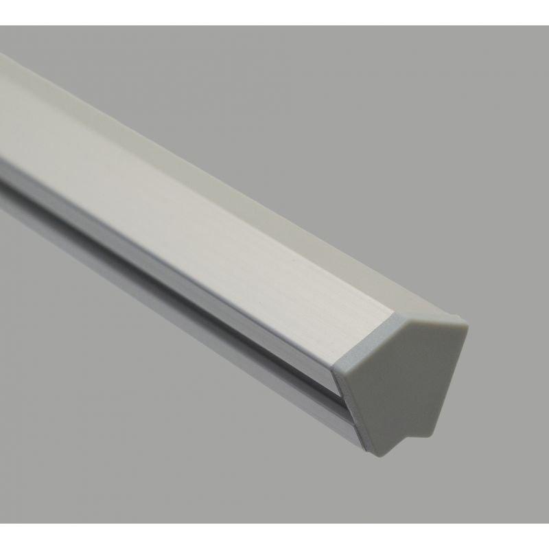 Black protective cap for profiles 2-ANG45-AS-10-4040 – Grey