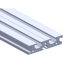 Flat aluminium profile 70x15 – 6 and 8mm slots