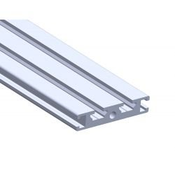 Flat aluminium profile 50x10 – 6mm slot