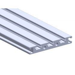 Flat aluminium profile 70x10 – 6mm slot