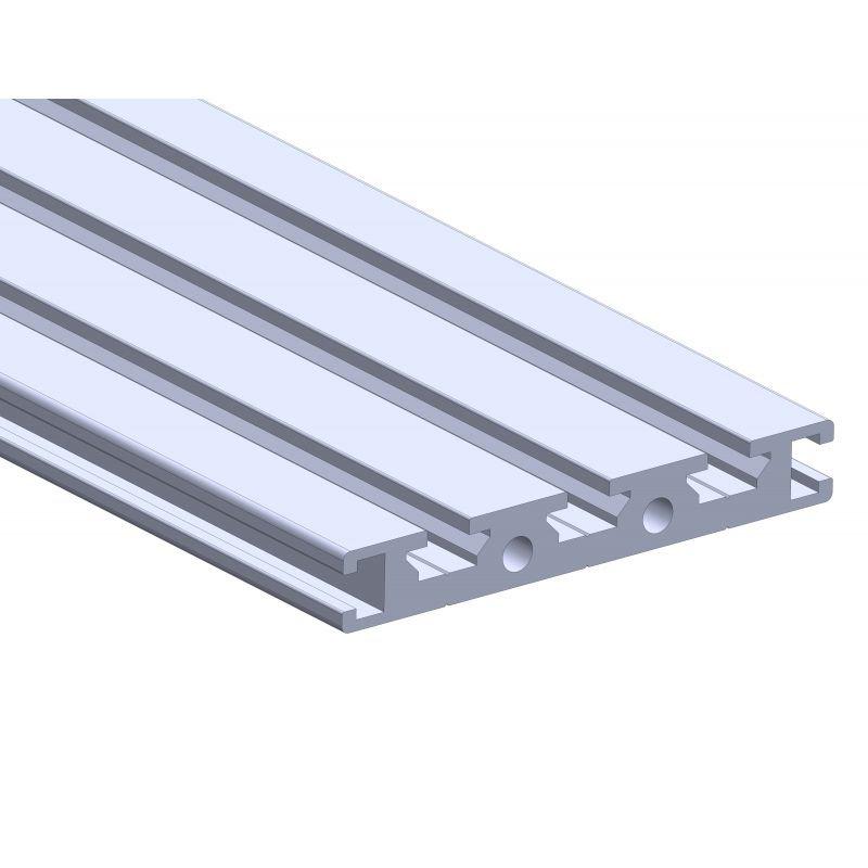 Profilé aluminium plat 70x10 - fente de 6 mm