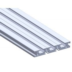 Flat aluminium profile 100x15 – 6 and 8mm slots