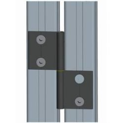 Aluminum detachable hinge for profiles 40