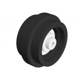 Roller Ø 58 mm for 10 mm slot