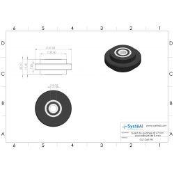 Roller Ø 47 mm for 8 mm slot