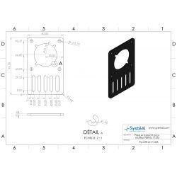Plaque Support pour moteur Nema 17/23