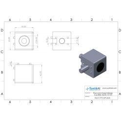 Raccord d'assemblage - 2 profilés 45x45 10 mm