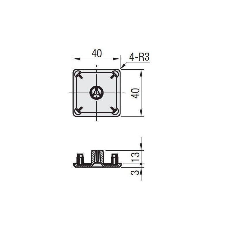 EMB-P10-VIS-4040-Gris