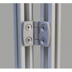 Aluminum hinge for 40x40 profile with 8 or 10 mm slot