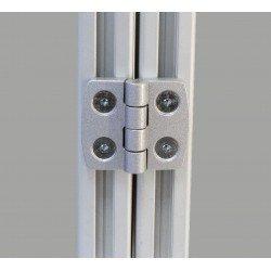 Charnière en aluminium pour profilé 40x40 fente de 8 ou 10 mm