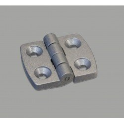Aluminum hinge for 45x45 profile with 10 mm slot