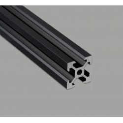 Profilé aluminium V-SLOT 20x20 fente 6 mm - Anodisé noir