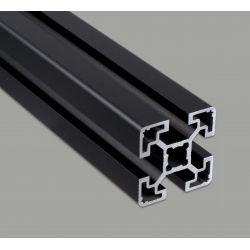 Profilé aluminium 40x40 fente 10 mm - type léger - anodisé noir