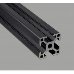 Profilé aluminium 30x30 fente 8 mm - anodisé noir