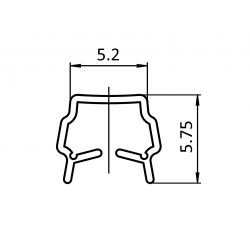 Reduction profile – for 6 mm slot