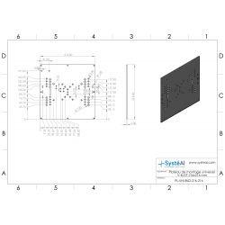 Plateau de montage universel V-SLOT 216x216 mm
