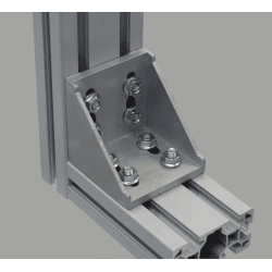 Fastening bracket for 80 profile - slot 10 mm