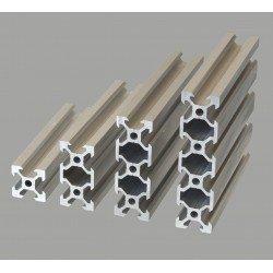 Profilé aluminium V-SLOT 40x40 fente 6 mm  - Anodisé noir