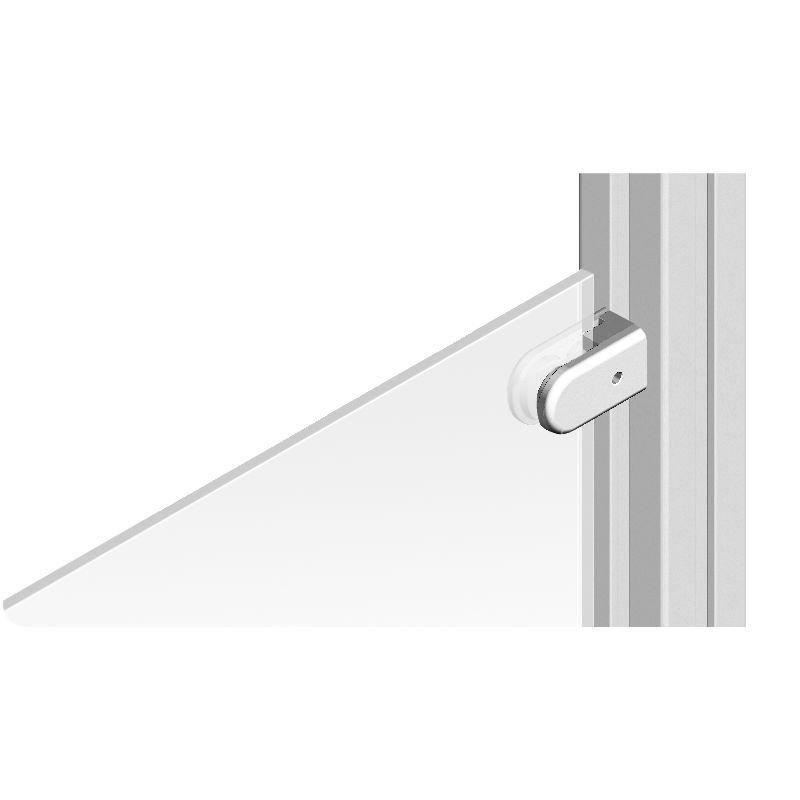 Glass panel clamp