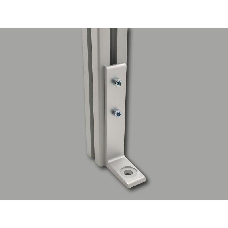 Aluminium floor bracket 27x140